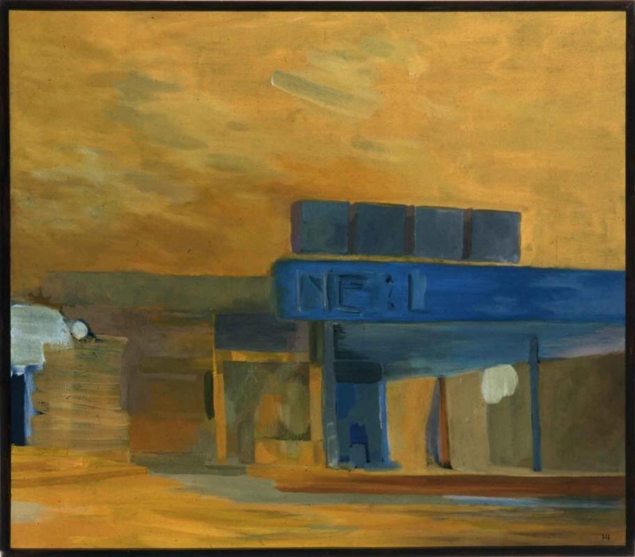 Hannes Hofstetter, Acryl und Öl, Strasse, 1974