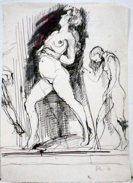 Hannes Hofstetter, Skizze68 nude, 1968